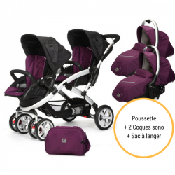 Poussette Casualplay Stwinner + 2 Coques Casualplay Sono + Sac A Langer