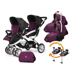Poussette Casualplay Stwinner + 2 Coques Casualplay Sono + 2 BaseFix + Sac A Langer