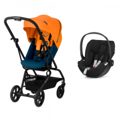 Poussette Baby Jogger Summit X3 + Coque Cybex Aton 5