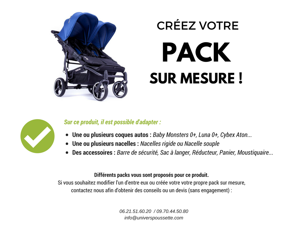 pack personnalisé easy twin baby monsters