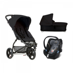 Poussette Mountain Buggy Mini + Nacelle Plus + Coque Aton 5