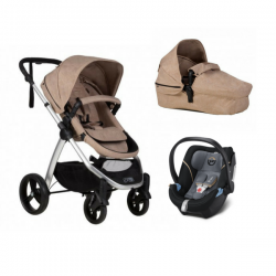 Poussette Mountain Buggy Cosmopolitain + Nacelle + Coque Aton 5