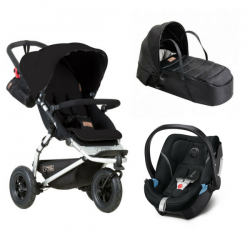 Mountain Buggy Swift + Nacelle Cocoon + Coque Aton 5 - Univers Poussette