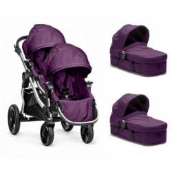 Poussette Double Baby Jogger City Select + 2 Nacelles Select