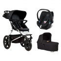 Poussette Mountain Buggy Terrain + Coque Aton 5 + Nacelle Plus