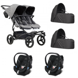 Poussette Mountain Buggy - Duet Luxury Collection + Cocoon + 2