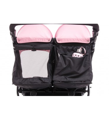 Poussette Baby Monsters - Easy Twin 3S Light (Châssis Noir) + 2