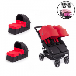 Poussette Baby Monsters - Easy Twin 3S Light (Châssis Noir)+ 2
