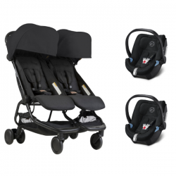 Mountain Buggy Nano Duo + 2 Coques Cybex Aton 5 Univers