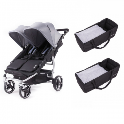 Poussette Baby Monsters - Easy Twin 3S Light (Châssis Chrome) +