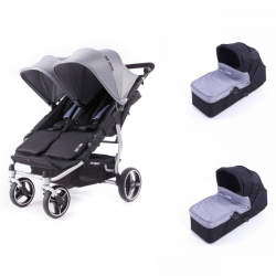Poussette Baby Monsters - Easy Twin 3S Light (Châssis Chrome)+