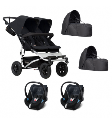 Poussette Double Mountain Buggy Duet V.3 + 2 Coque Aton 5 + 2