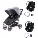 Poussette Baby Monsters Easy Twin 3S Light - Heather Grey (Ch.