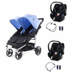 Poussette Baby Monsters Easy Twin 3S Light - Mediterraneen (Ch.