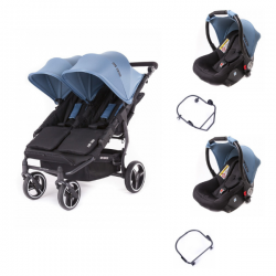 Poussette Baby Monsters Easy Twin 3S Light - Atlantic (Ch.