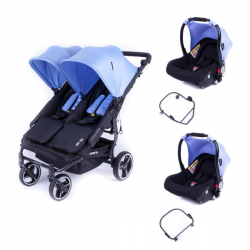 Poussette Baby Monsters Easy Twin 3S Light - Méditerranéen (Ch.
