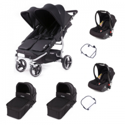 Poussette Baby Monsters Easy Twin 3S Light - Noir (Ch. Silver)