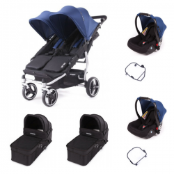 Poussette Baby Monsters Easy Twin 3S Light - Midnight (Ch.