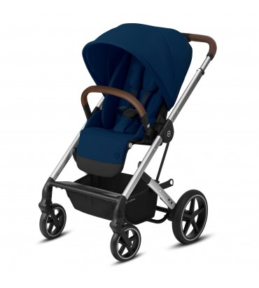Pack Duo Cybex Balios S Lux - Châssis Silver + Nacelle S - Navy