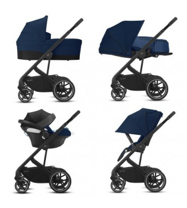 Pack Duo Cybex Balios S Lux - Châssis Silver + Cocoon S - Soho