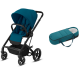 Pack Duo Cybex Balios S Lux - Châssis Black + Cocoon S - River