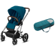 Pack Duo Cybex Balios S Lux - Châssis Silver + Cocoon S - River