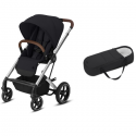 Pack Duo Cybex Balios S Lux - Châssis Silver + Cocoon S - Deep