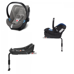 Pack Cybex Coque Auto Aton 5 - Soho Grey + Base Aton 2-Fix