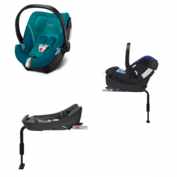 Pack Cybex Coque Auto Aton 5 - River Blue + Base Aton 2-Fix