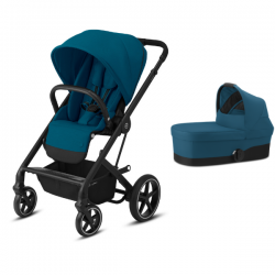Pack Duo Cybex Balios S Lux - Châssis Black + Nacelle S - River
