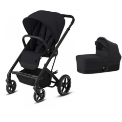 Pack Duo Cybex Balios S Lux - Châssis Black + Nacelle S - Deep