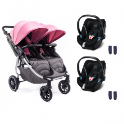 Poussette Baby Monsters Easy Twin 4 + 2 Coques Cybex Aton 5 -