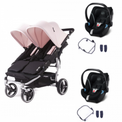 Poussette Baby Monsters Easy Twin 3S Light + 2 Cybex Aton 5 -