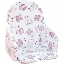 Coussin de Chaise Looping - Lapin Cassis BCCHLAPCAS