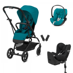 Poussette Cybex Eezy S Twist PLUS 2 - Châssis Black + Cloud Z