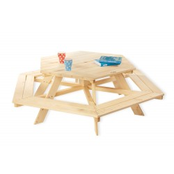 Ensemble de table et chaises Pinolino - Nicki 6-Eck - naturel