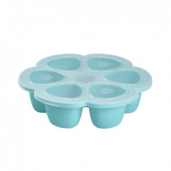 Multiportions Silicone 6x90ml Béaba - Bleu 912493, 3384349124939