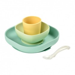 Set Vaisselle Silicone Béaba - Yellow 913436, 3384349134365