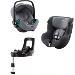 Pack Sièges Auto Britax Baby Safe 3 i-Size - Frost Grey +