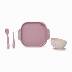 Set Vaisselle Silicone Tuc Tuc - Little Forest Rose 12051894