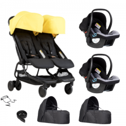 Poussette Double Mountain Buggy Nano Duo - Cyber + 2 Cocoon V2