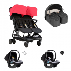 Poussette Double Mountain Buggy Nano Duo - Ruby + Cocoon