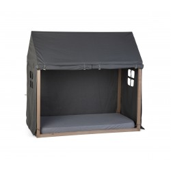 Toile 70x140cm Childhome Cabane - Anthracite TIPBFC70A