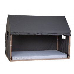 Toile 90x200cm Childhome Cabane - Anthracite TIPBFC90A