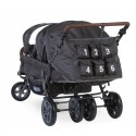 Poussette 6 Places Childhome Sixseater - Anthracite CWSIXN