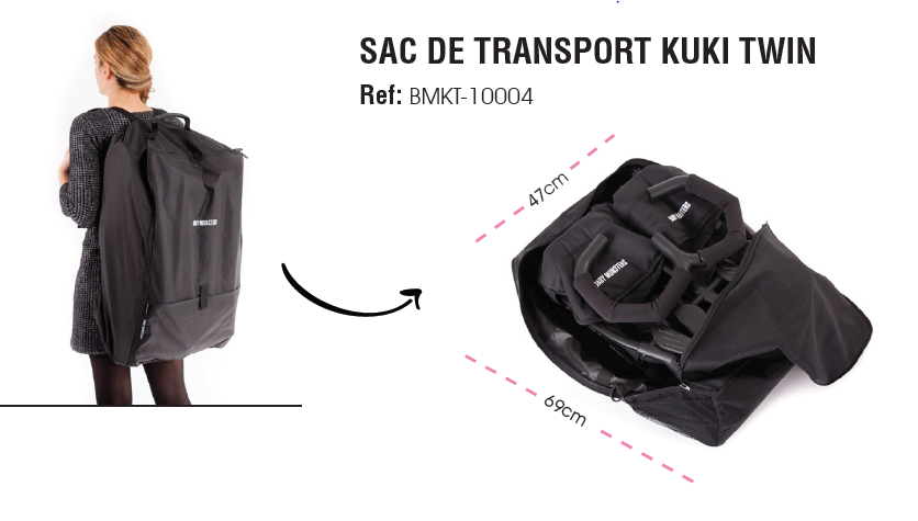 Sac de Transport Baby Monsters Kuki Twin