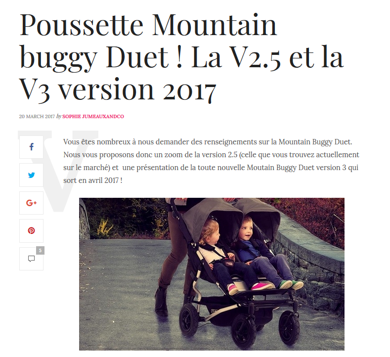 univers poussette jumeaux and co mountain buggy duet
